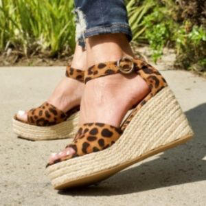Shoes - New Avery Leopard Wedge
